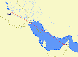 iraq dubai distance