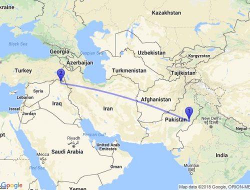 iraq india distance