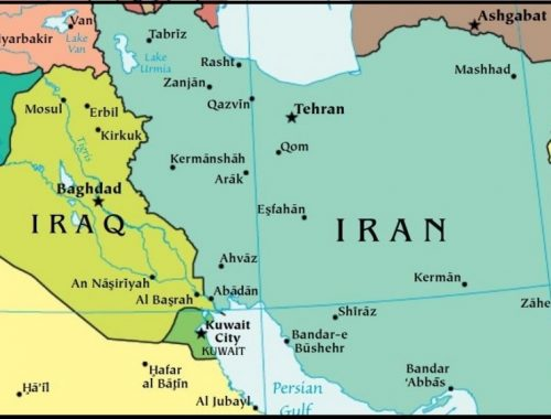iraq iran distance