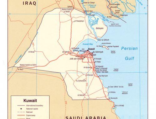 Iraq distance from kuwa