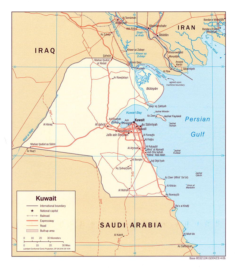 Iraq distance from kuwa